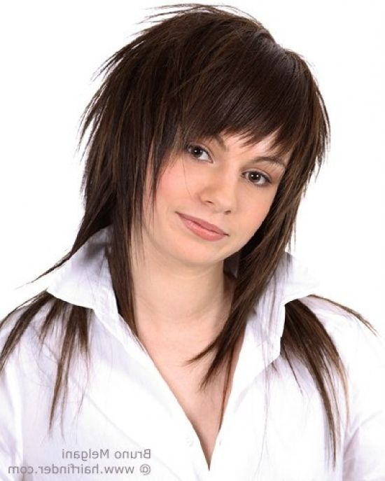 uneven layered haircuts intended