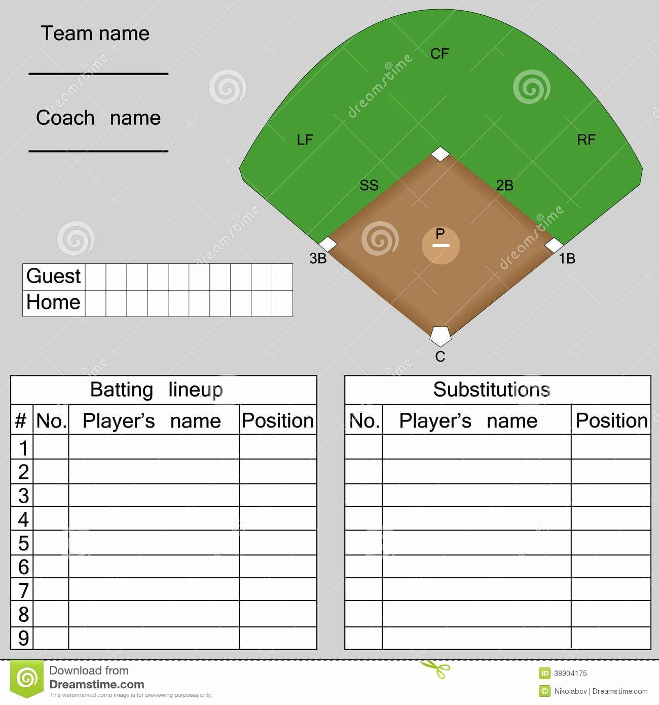 Baseball uniform order form template luxury image result