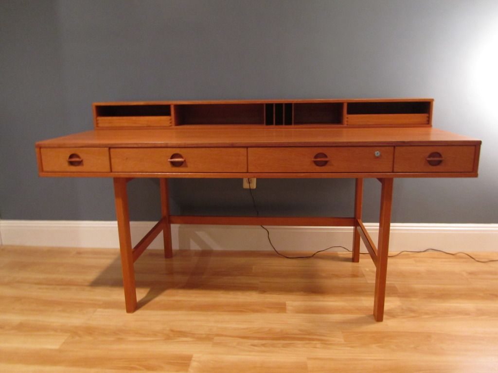I love the lines of this desk. Danish modern furniture