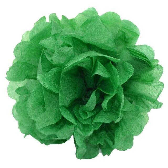 Photo of 5 piece 10/15/20cm Pompon Tissue Paper Pom Poms Flower Balls for Wedding Party Car Decoration diy Craft Paper Flower Balls 75z – FB17kelly green / 15cm