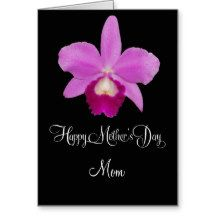customizable Mother's day card with orchid