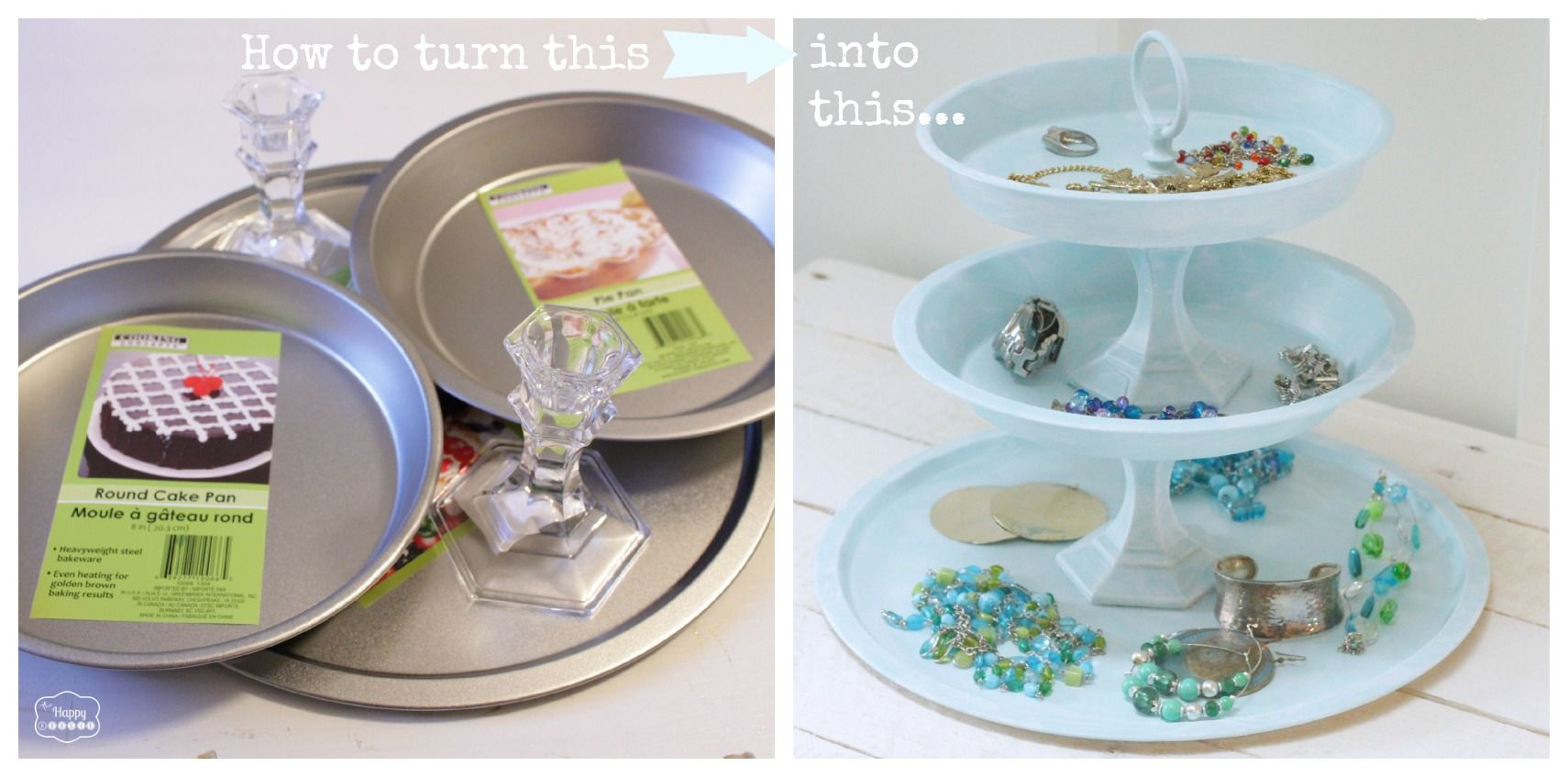 DIY Tiered Jewelry Tray From Dollar Store Finds