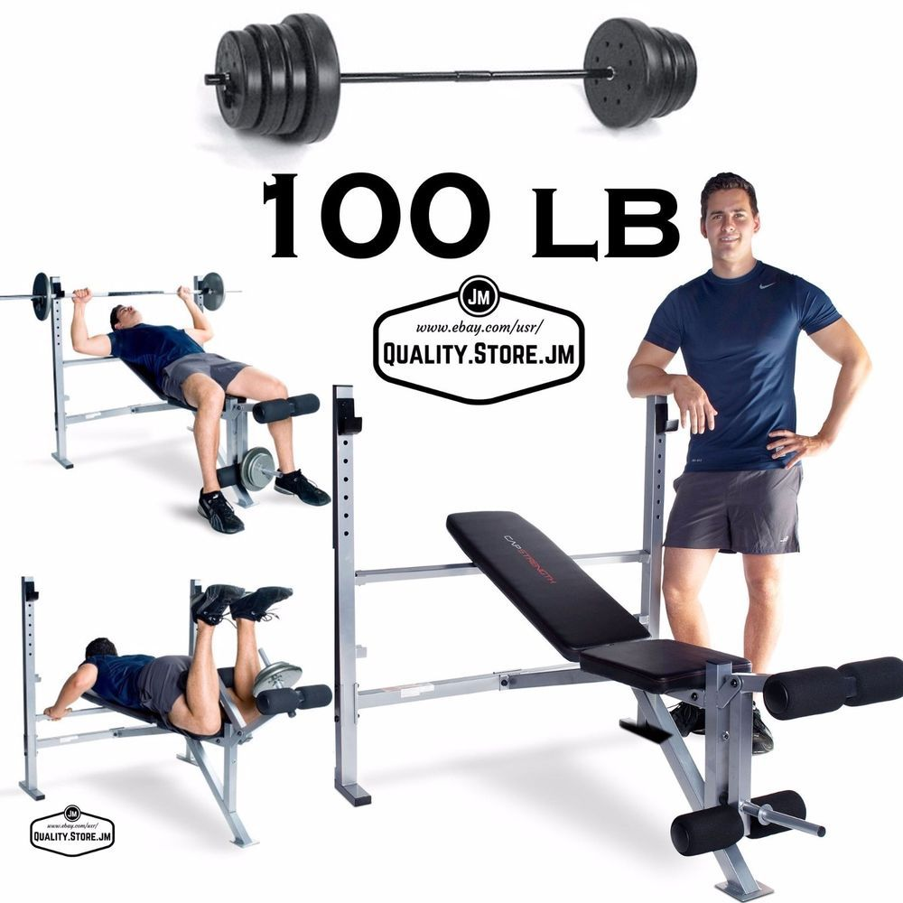 Weight Bench With Weights And Bar Leg Extension Press Rack Gym Workout Exercise Capbarbell Weight Benches Gym Workouts Bench Press