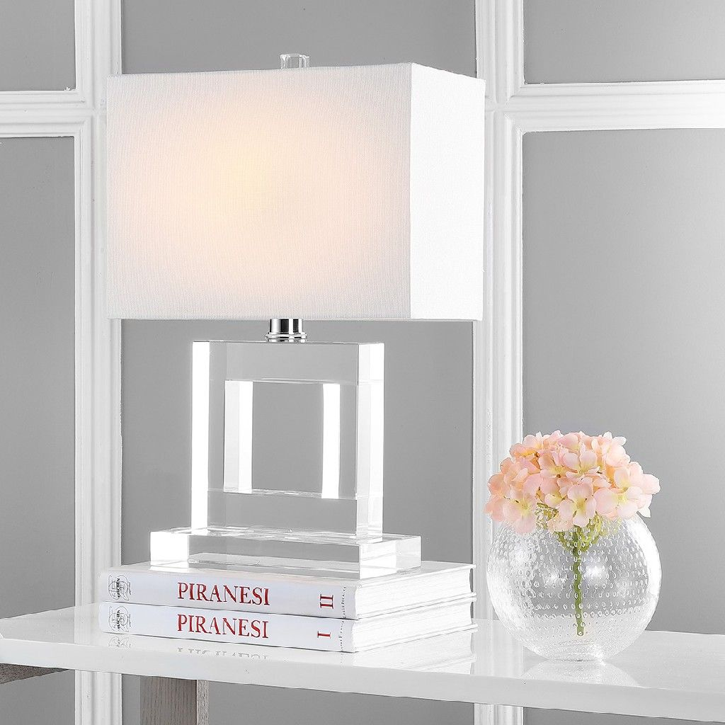 Town 20.5Inch H Square Crystal Lamp Safavieh LIT4115A
