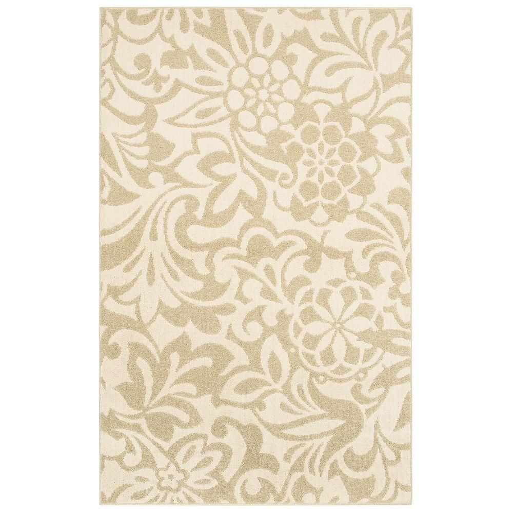 Mohawk Home Simpatico Biscuit Starch 5 Ft X 7 Area Rug 301286 At The Depot