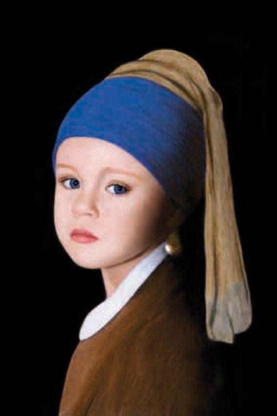 Vermeer La Jeune Fille à La Perle : vermeer, jeune, fille, perle, Vlada, KRASSILNIKOVA, Jeune, Fille, Perle,, European, Evaluators, France, Parody,, Pearl, Earring,, Famous, Artwork