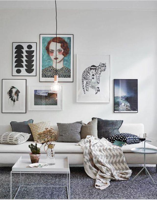 Décoration Murale Du Salon : 8 Idées Pour Personnaliser Les Murs