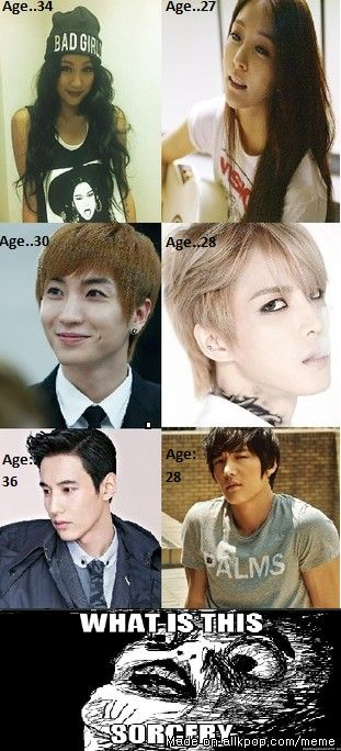 You're      how old?! | allkpop Meme Center cant help but to adore