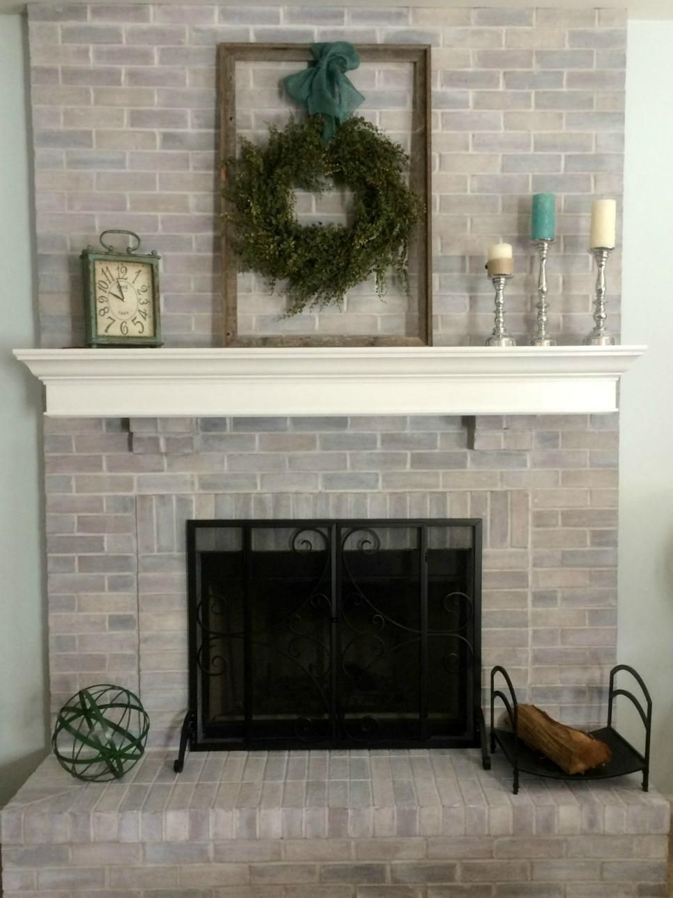 Floor To Ceiling Brick Fireplace Makeover Part - 18: Best 20+ Brick Fireplace Remodel Ideas On Pinterestu2014no Signup Required | Brick  Fireplace Makeover, Brick Fireplace And Painting Brick