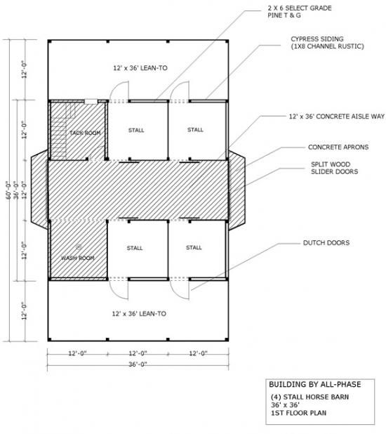 Barn floor plans for horses barn homes rustic barn for Horse barn prices and plans