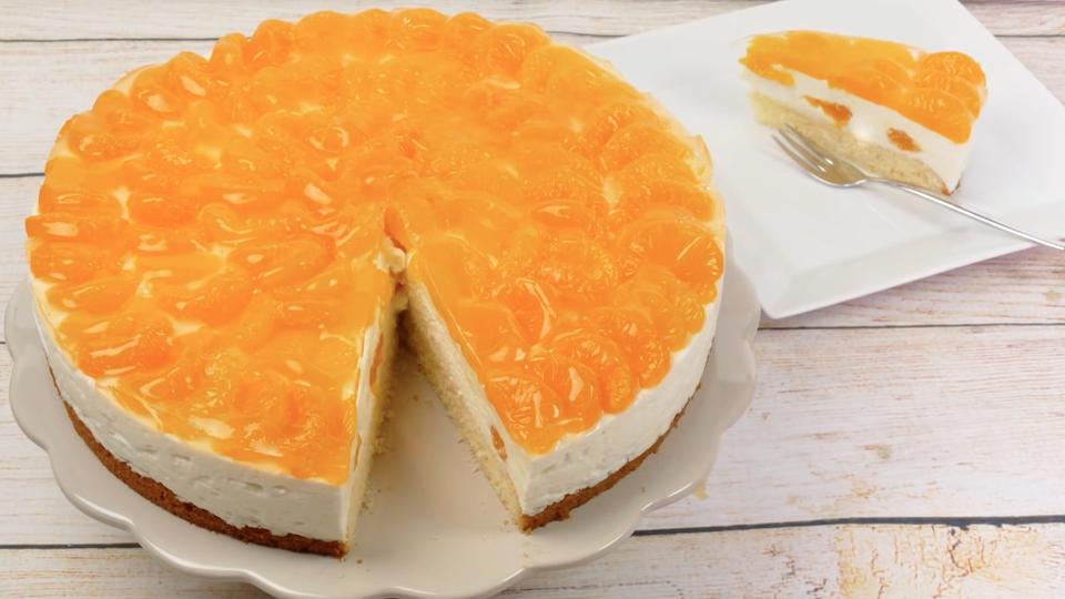 Mandarinen Joghurt Torte Rezept In 2019 Torten Pinterest