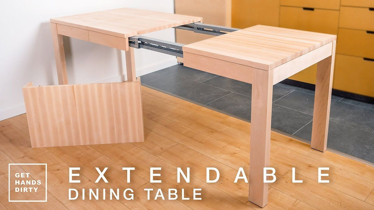 How To Make An Extendable Dining Table With Solid Maple Tiny