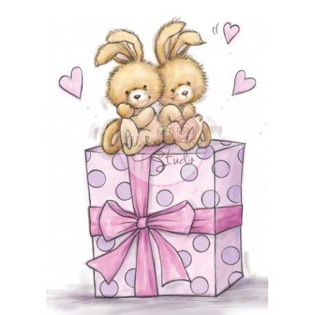 Tampon dessin lapin cadeau anniversaire f te - Dessin cadeau anniversaire ...