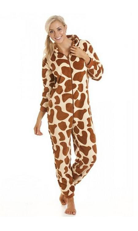 f67a5967e7 Camille Womens Ladies All In One Onesie Womens nightwear super soft Giraffe  print onesie pyjamas Machine washable. Please see the measurements for all  sizes ...