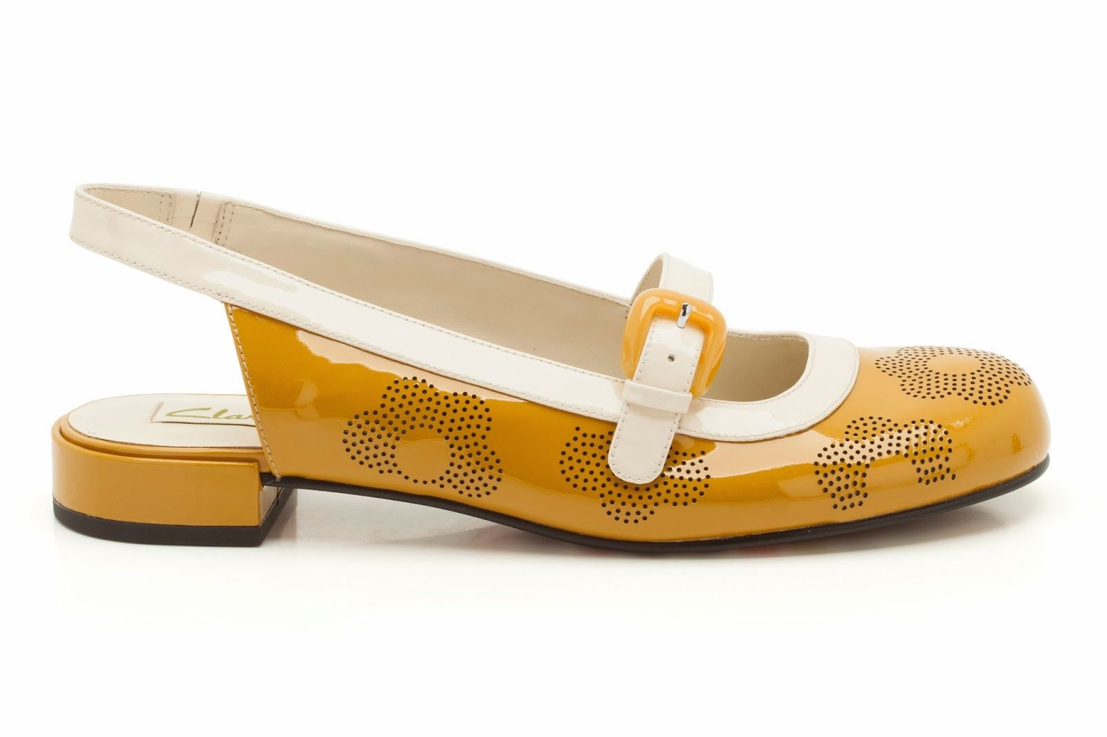 Womens Smart Shoes - Orla Milly in Mustard Yellow from Clarks shoes