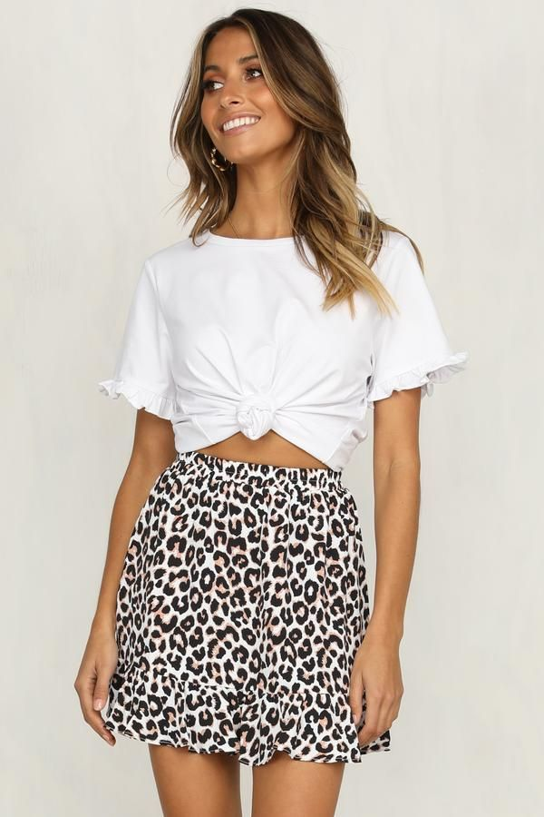 Sweet Printed Lace-Up Short Skirt – Dress