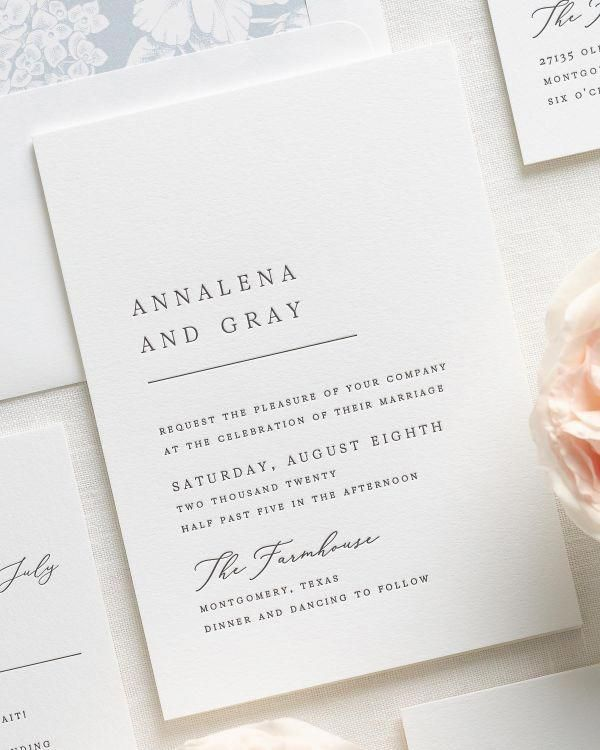 Annalena Letterpress Wedding Invitations