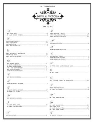 Free Wedding Templates To Help You Seat Your Guests TimberlodgeS