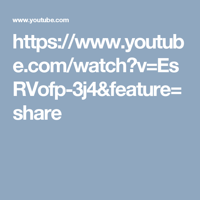 https://www.youtube.com/watch?v=EsRVofp-3j4&feature=share