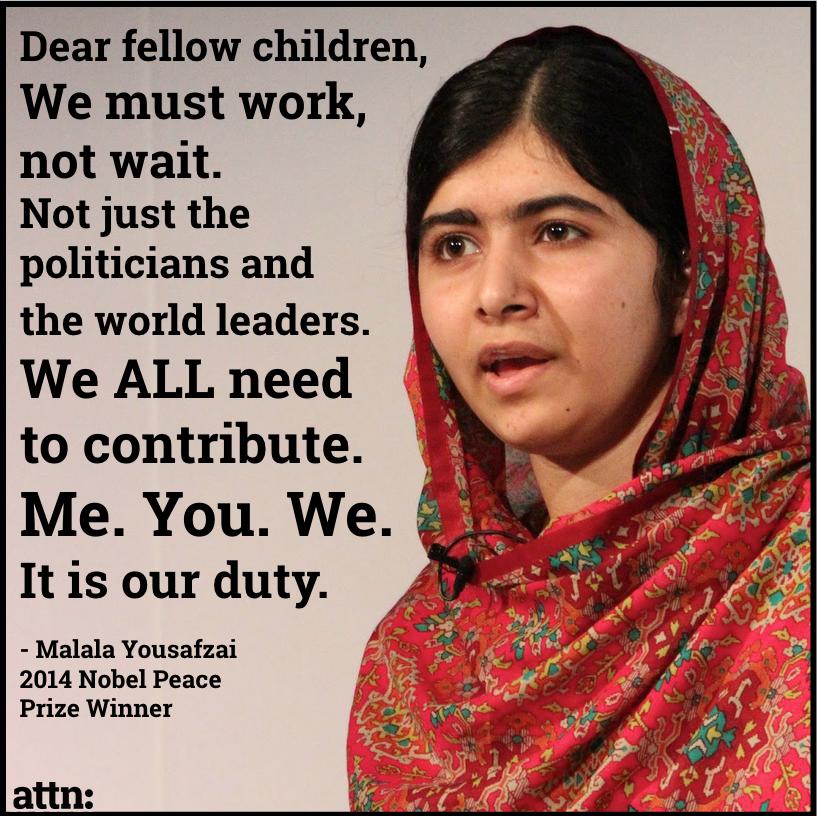 Malala Yousafzai Acceptance Speech | Inspiration | Pinterest ...