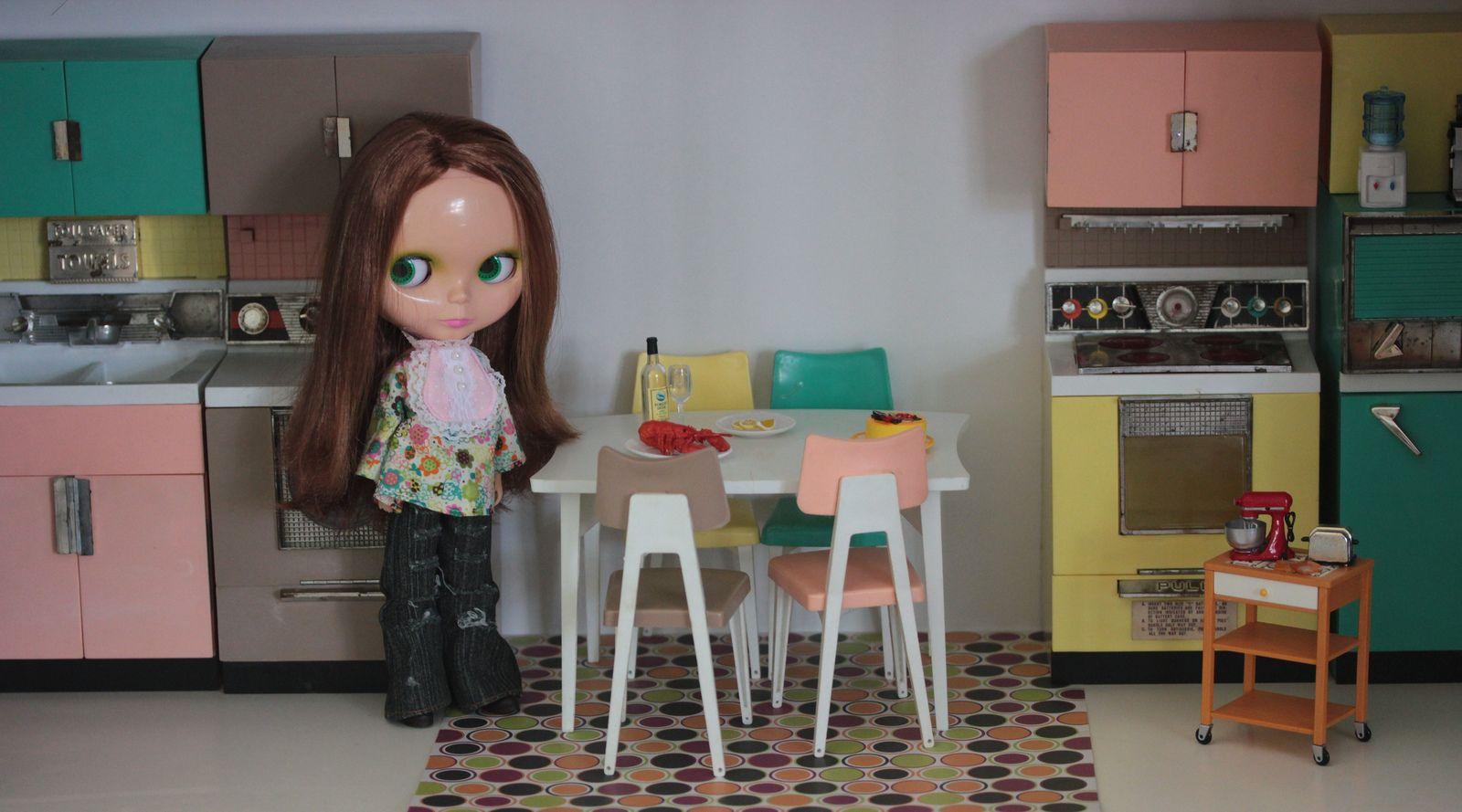 Bijoux in her new kitchen | Flickr - Photo Sharing!