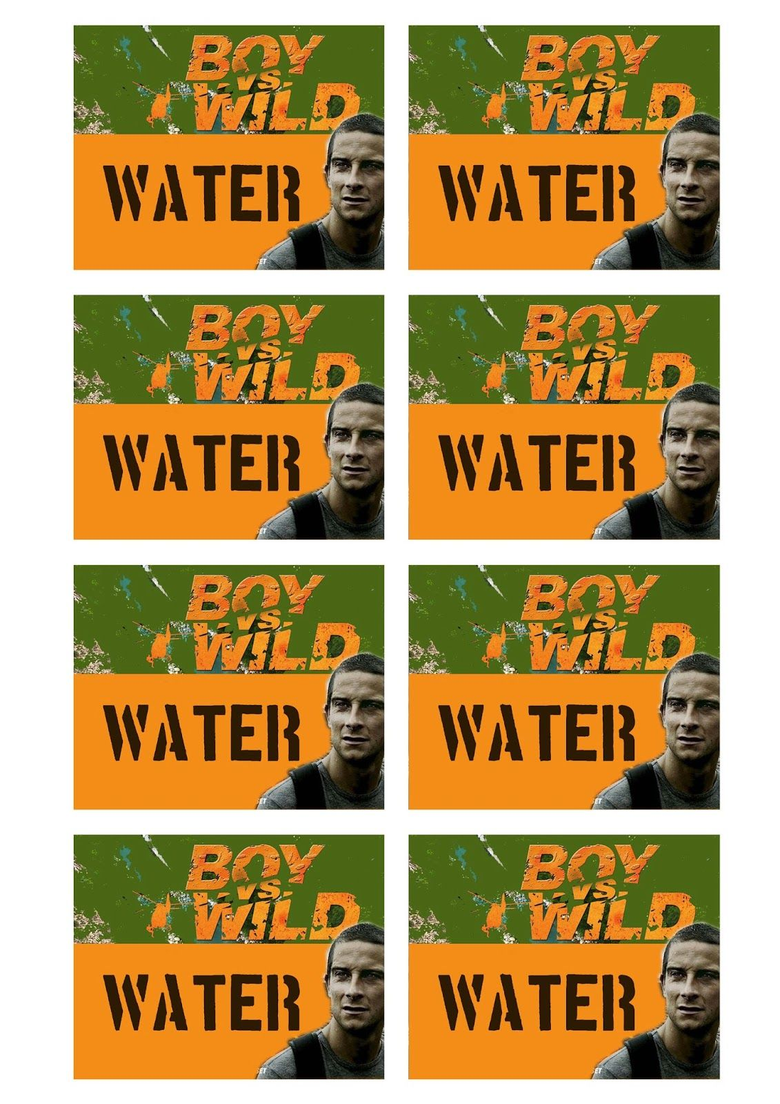 Greatfun4kids Free Printable Boy Vs Wild Water Bottle Labels
