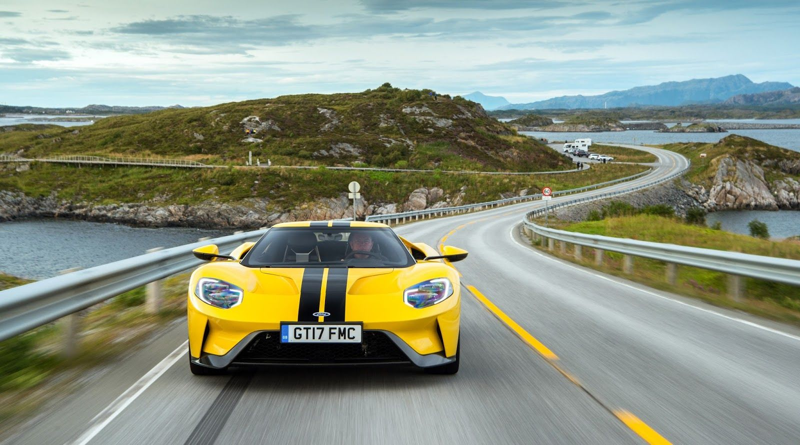 Watch The Ford Gt Head Out For A Drive On The Atlantic Ocean Road Fordgt Supercar Roadtrip