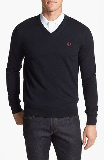 941fa28effbc5 Fred Perry V-Neck Sweater available at  Nordstrom