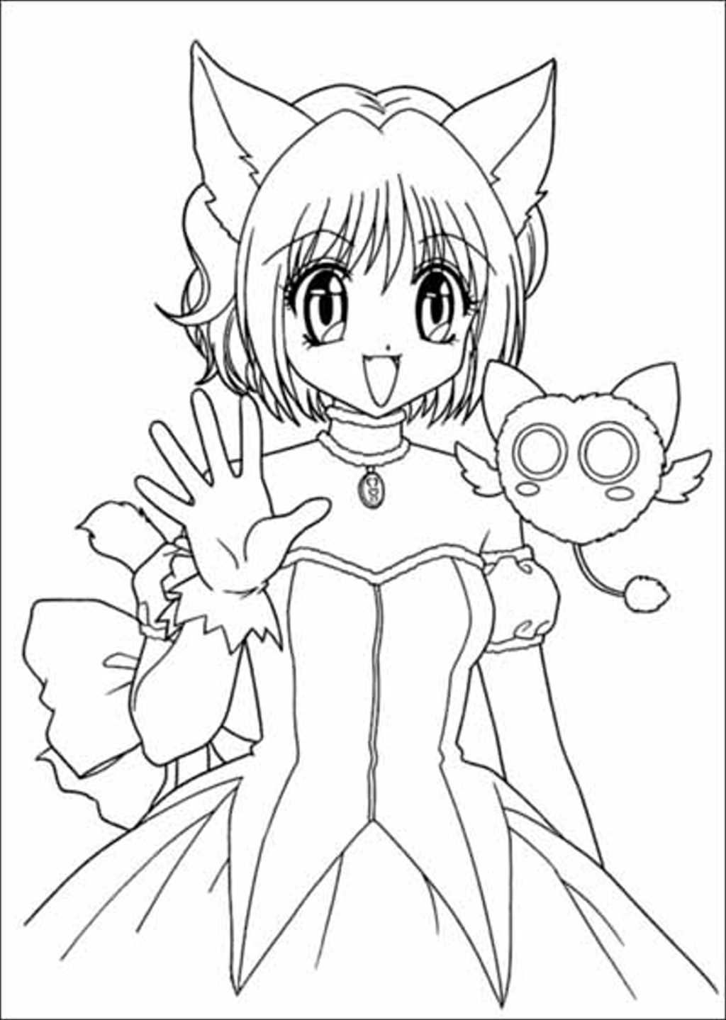 mew mew ichigo greets his friends mew mew coloring pages
