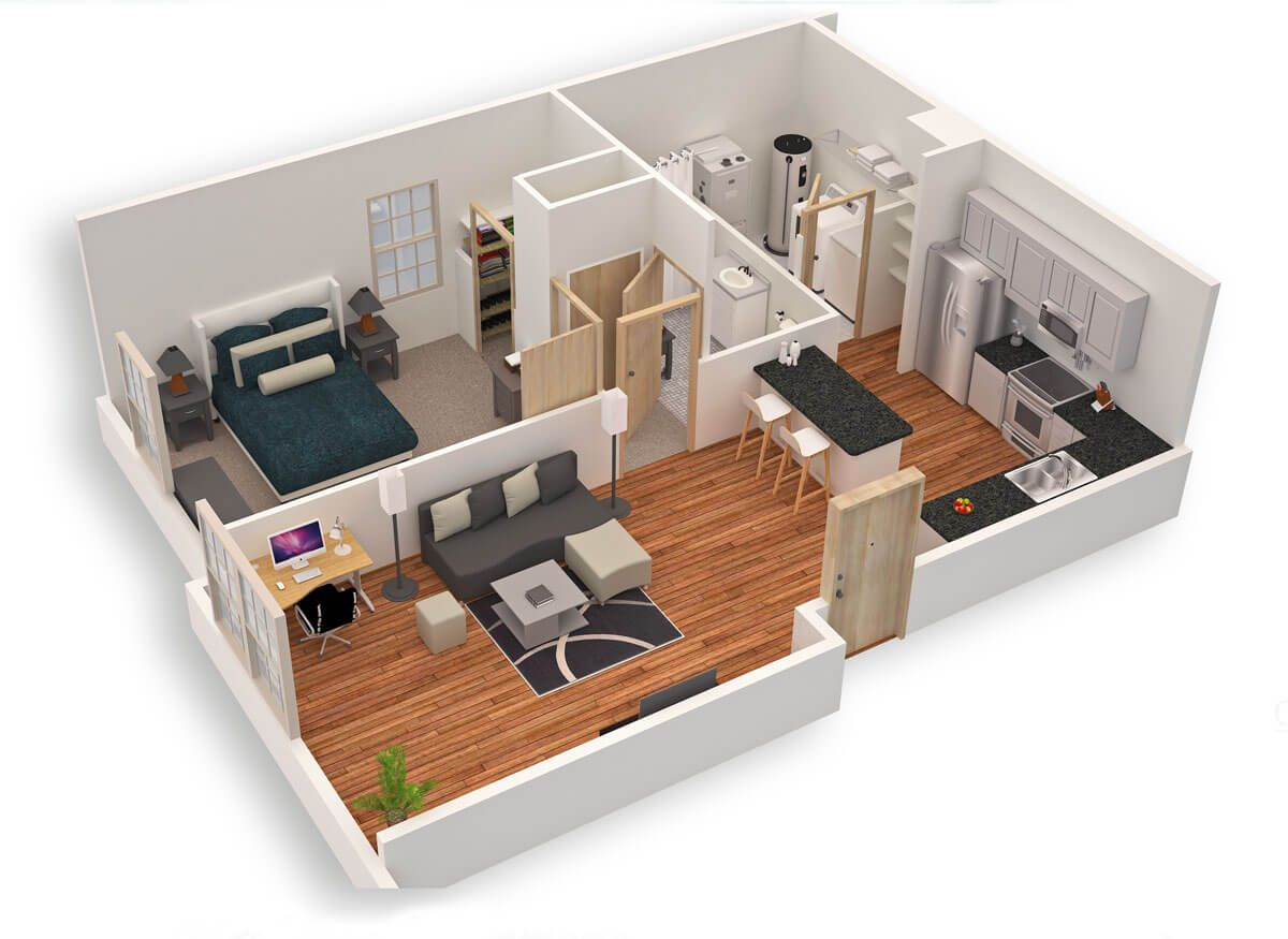 Amazing Top 50 House 3d Floor Plans Engineering Discoveries Small House Plans Small House Design Plans Small Modern House Plans