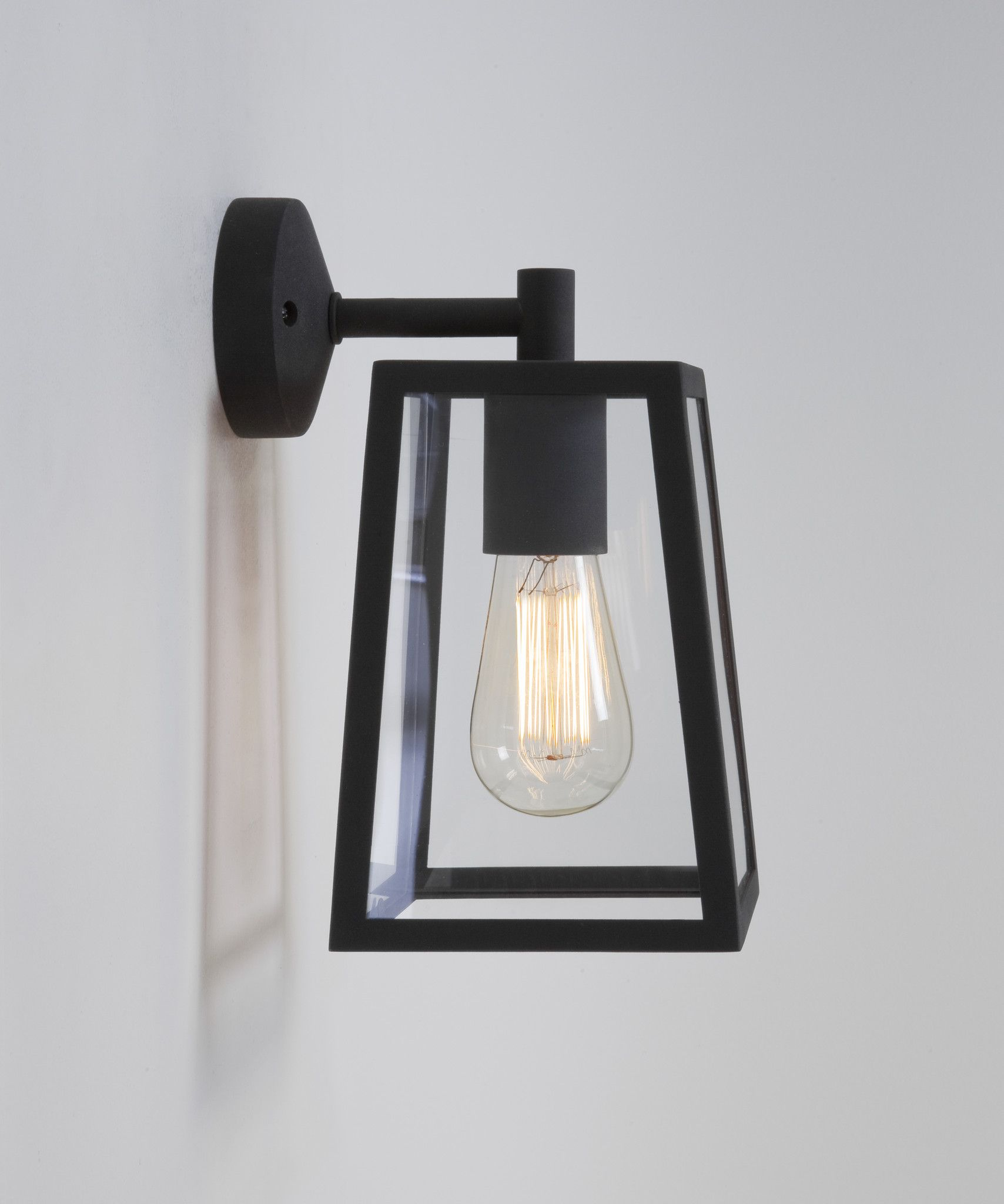 Tapered Square Black Outdoor Wall Light ID in homes