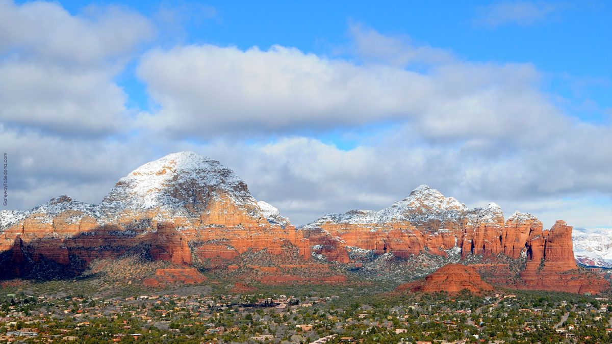 West Sedona view following a January snowfall Thunder