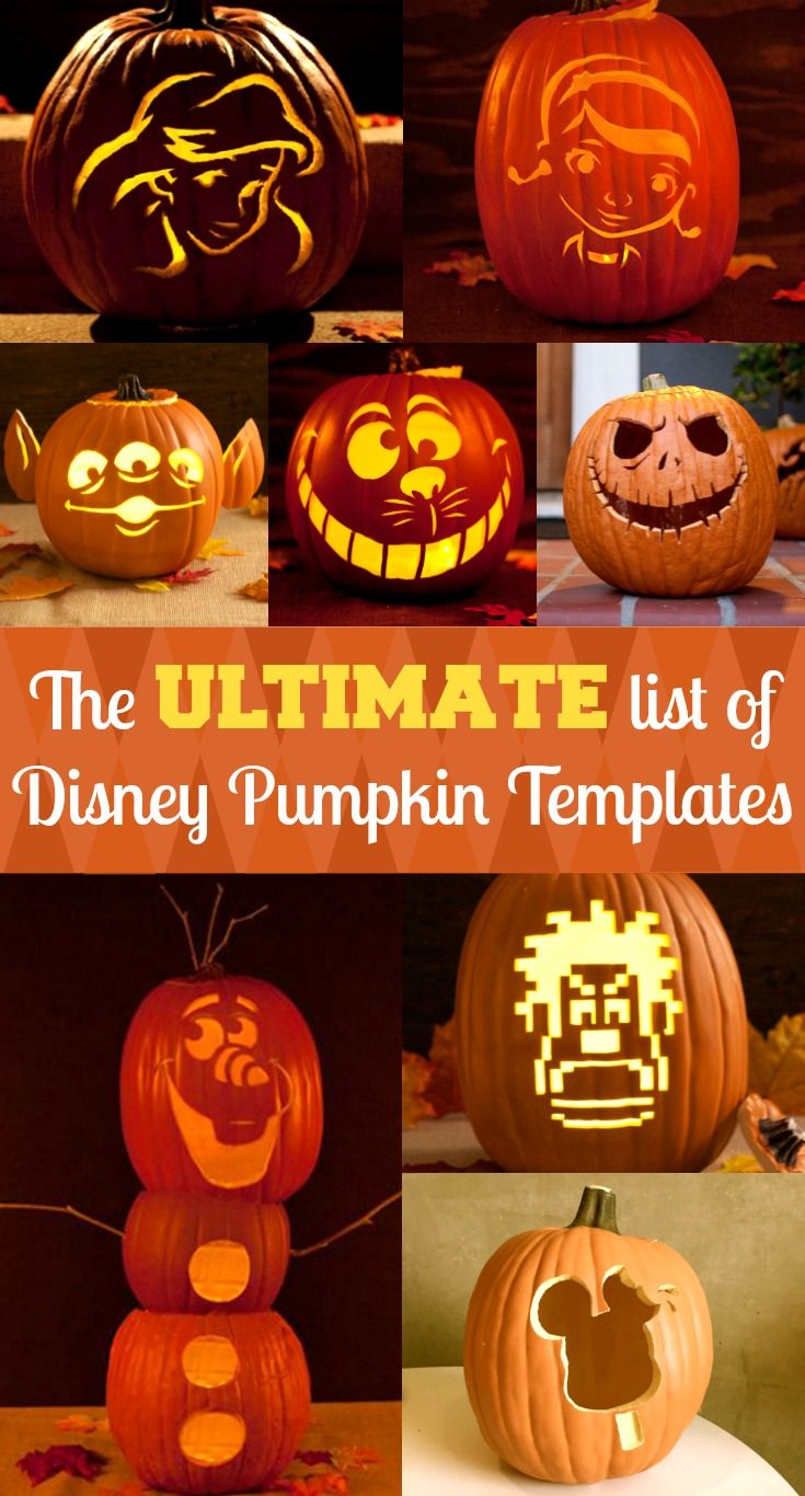 picture about Disney Pumpkin Carving Patterns Free Printable named Disney Pumpkin Stencils Halloween Designs Pumpkin carving