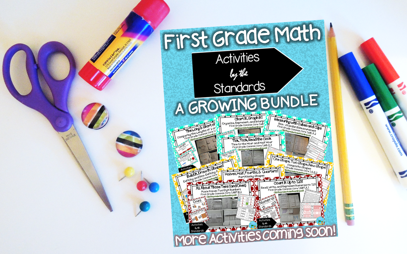 First Grade Math Skills BUNDLE: Activities by the Standards ALL 1st ...