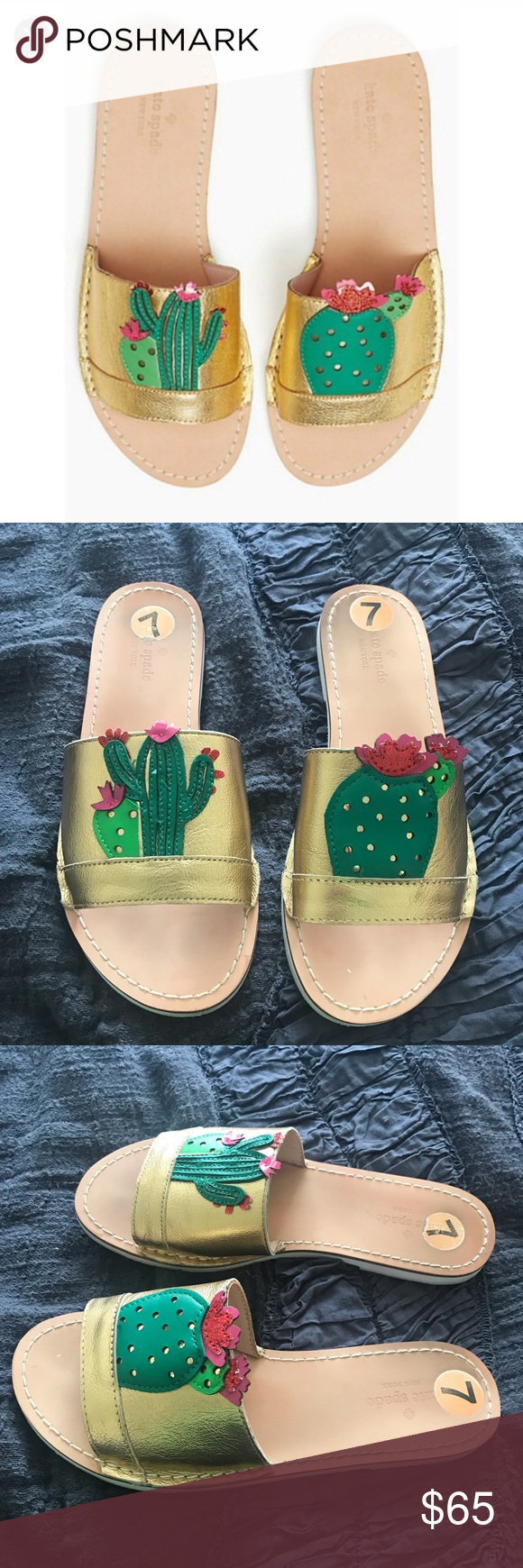 debee7e6be92 Kate Spade Iguana Cactus Sandals Like new! Only worn a few times. excellent  condition