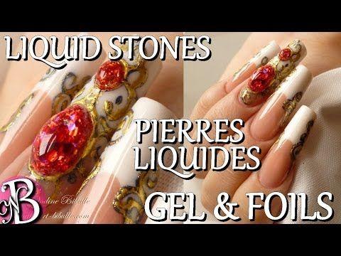 Nail Art Liquid Stones Pierres Liquides Au Gel Uv Youtube