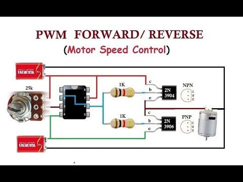 pwm with forward and reverse finally dc motor speed controller rh pinterest com