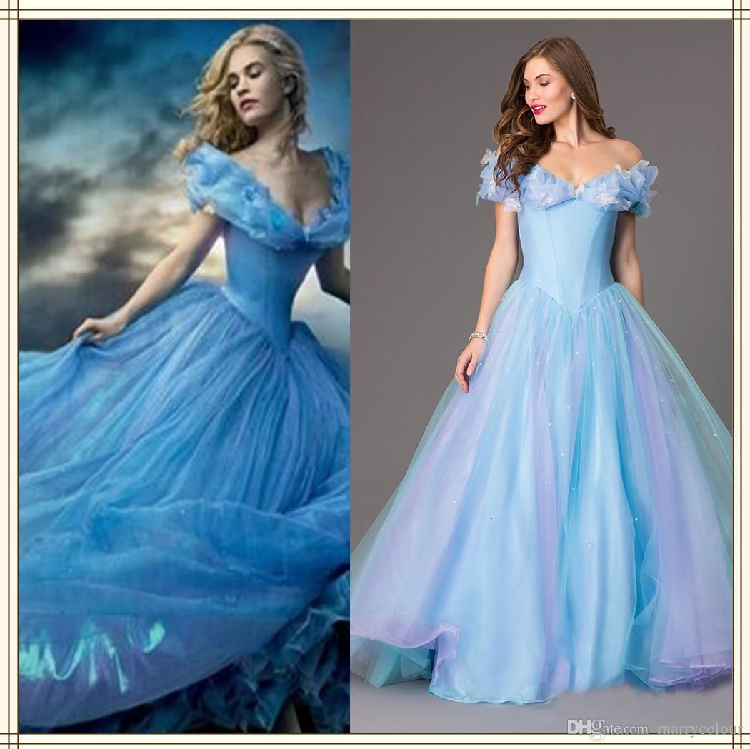 new movie deluxe cinderella prom dresses cosplay costume party