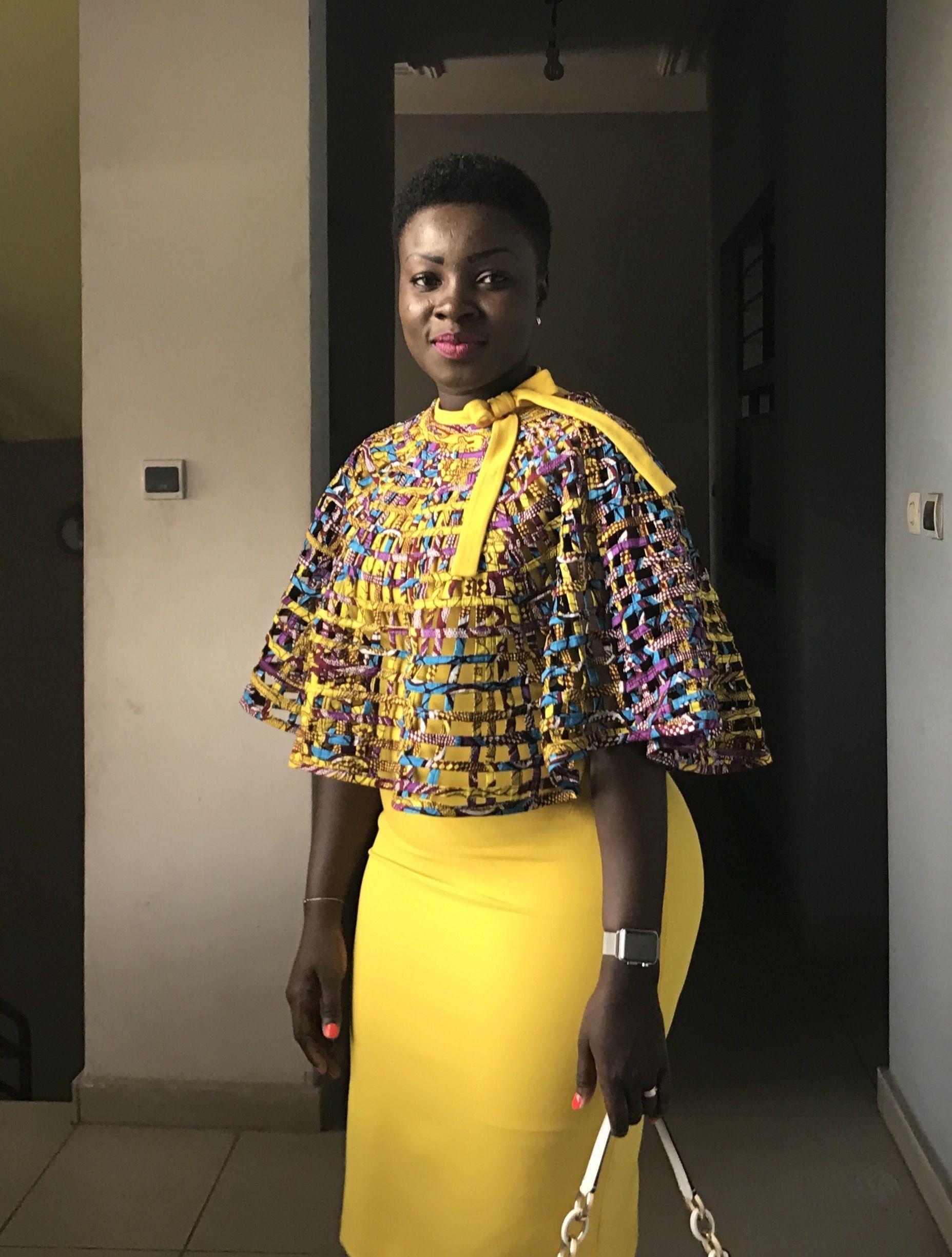 Belles Couleurs Sur Une Peau Débène Tenue Africaine En