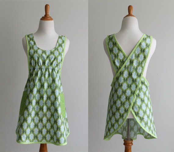 Crossback Apron Sewing Pattern PDF - The BACK WRAP- Instant Download ...