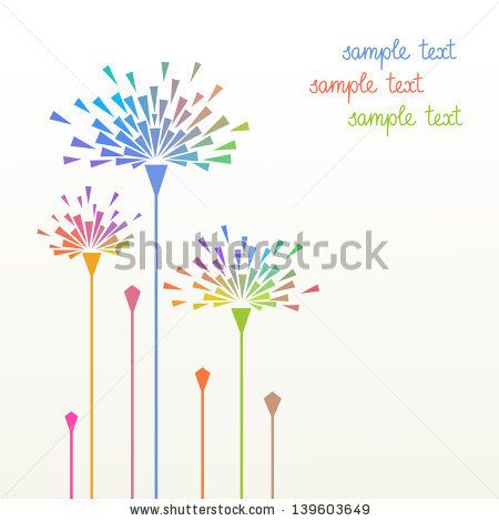 Decorative Text Box Vector Simple Background With Stylized Flower Of Geometric Shapes