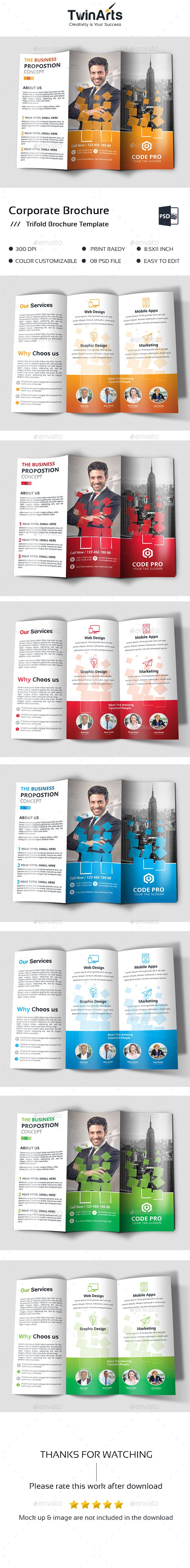 small brochure template - trifold brochure