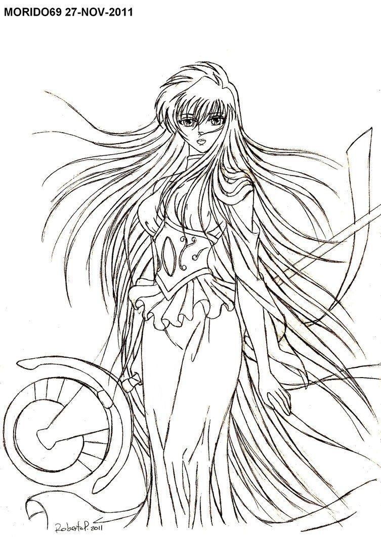 Sasha athena boceto by muertito69 coloriage les - Dessin chevalier du zodiaque a imprimer ...