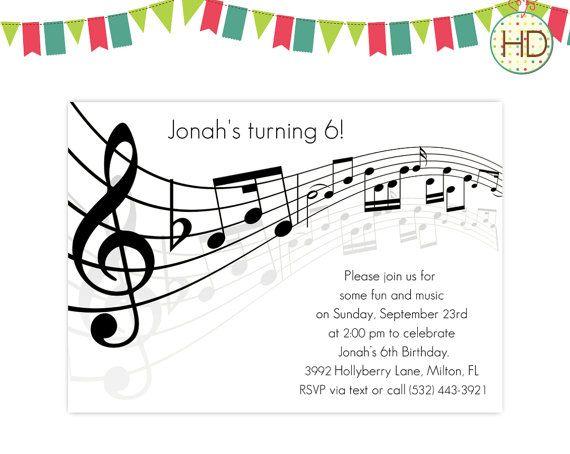Music Notes Invitations Sheet Invitation Retirement Party