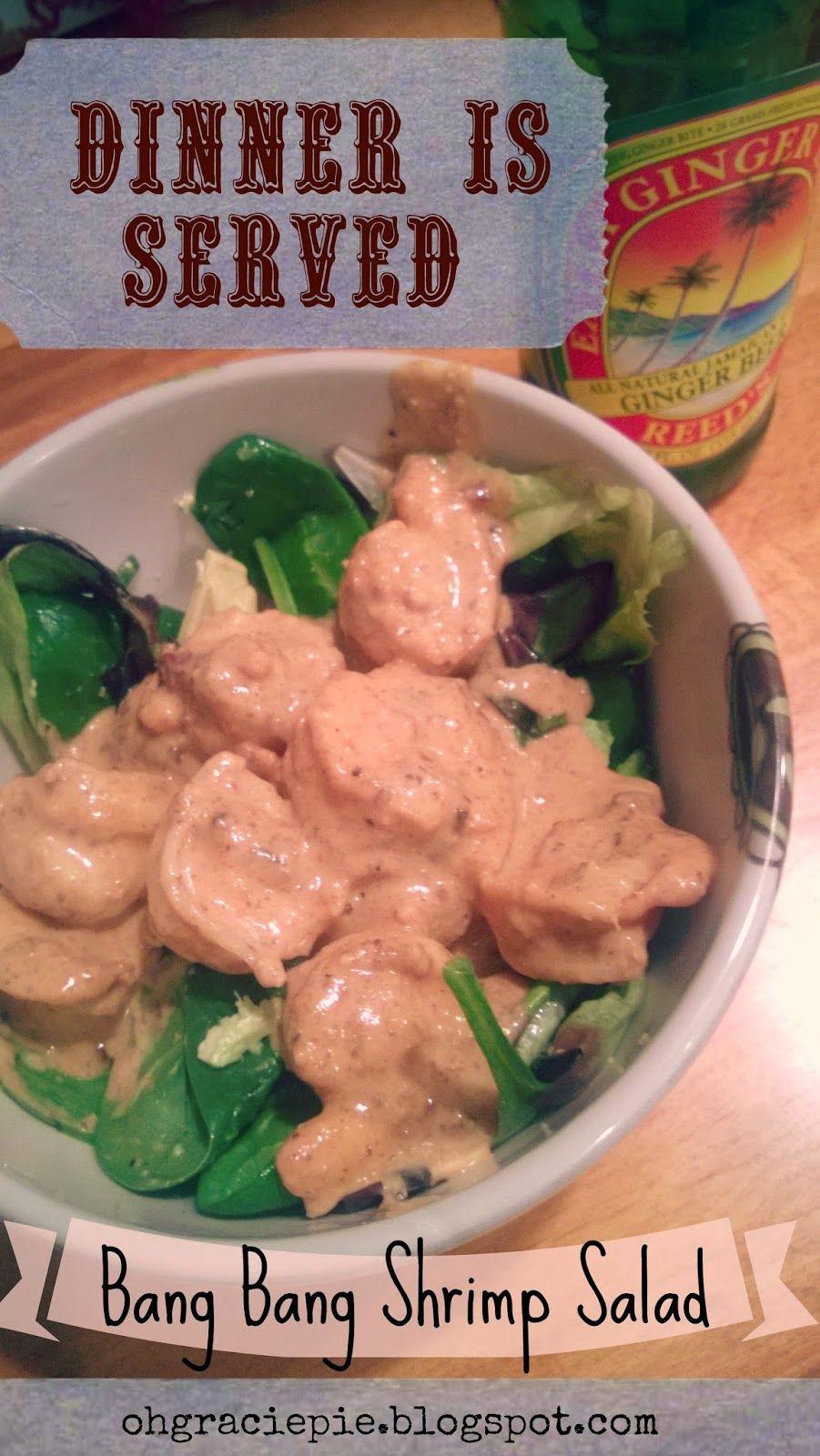 Bang Bang Shrimp Salad! Paleo happy &  P3 HCG Friendly /// Yum!  ohgraciepie