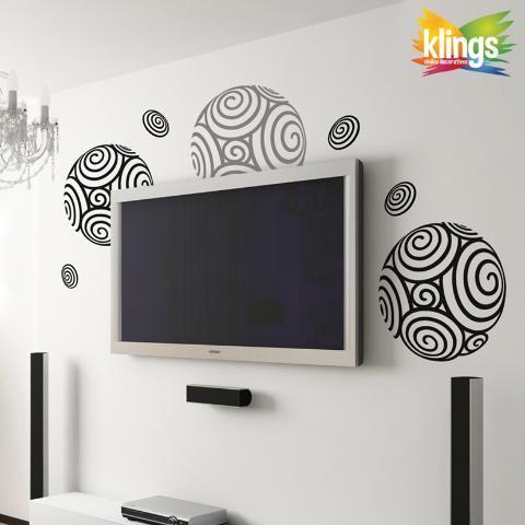 Vinilos decorativos esferas con ondulaciones circulos for Vinilos decorativos 3d