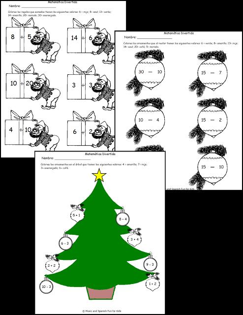 Free Spanish Fun Math Worksheets Spanish Fun Pinterest Fun