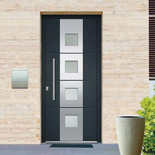Porte DEntre Monobloc Aluminium Phoenix Disponible En Gris Ou