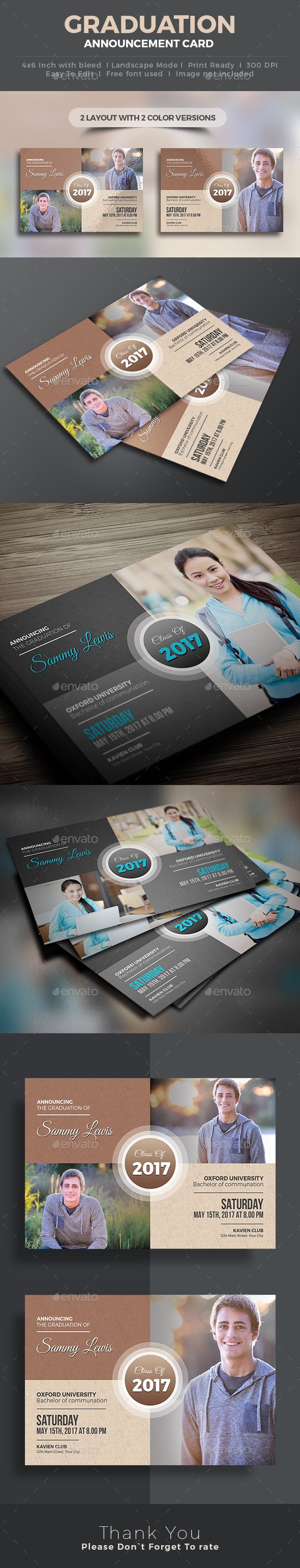 Graduation Invitation   Template, Cards and Fonts