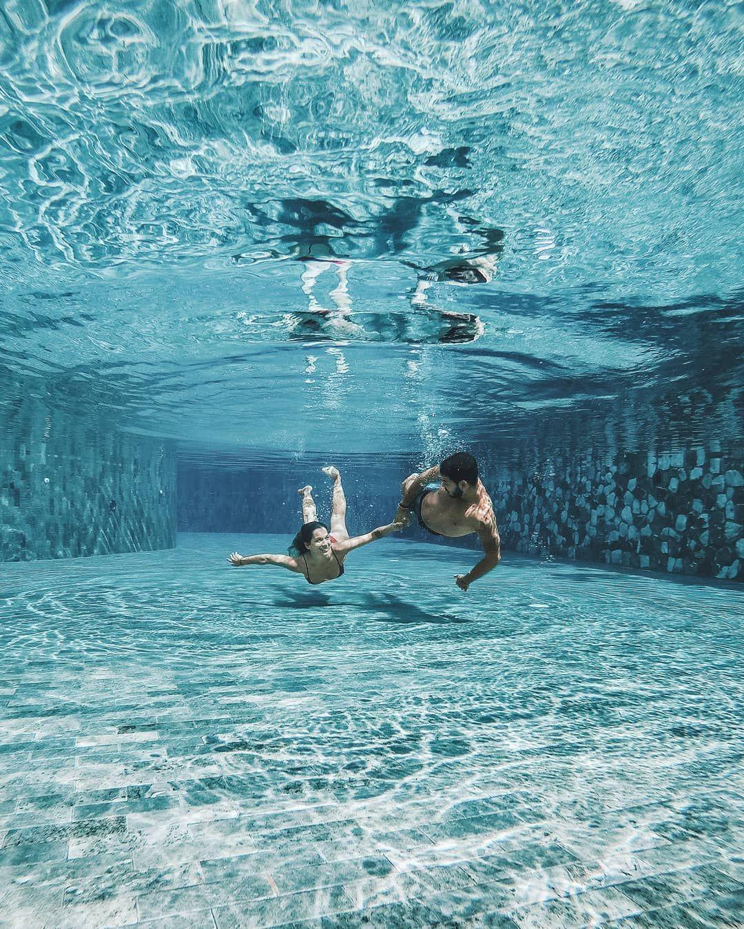 Gopro Underwater Couple Travel Asia Pool Beautiful Blue Underwater Pictures Underwater Photography Underwater Photography Couples